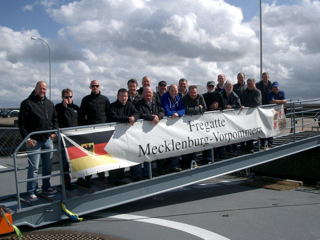 Gruppenfoto auf F-218